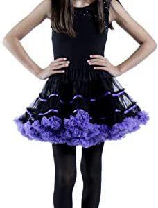 BellaSous Layered Striped Tulle Tutu Skirt