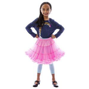 BellaSous Fluffy Organdy Skirt - Child, Turquoise