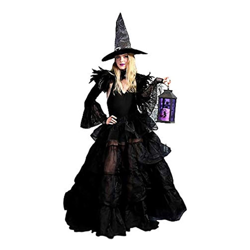 BellaSous Luxury Tiered Gown Full Length Witch Costume